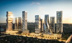 A bird's eye view of planned M City condo development in downtown Mississauga