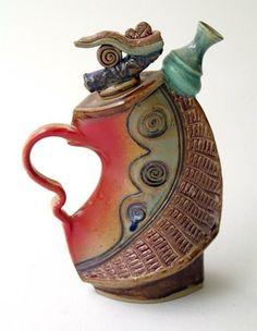 Helene Fielder uploaded this image to & Tea Pots& See the album on Photobucket. Pottery Teapots, Teapots And Cups, Ceramic Teapots, Ceramic Clay, Ceramic Pottery, Teapots Unique, Vintage Teapots, Chocolate Pots, Tea Set