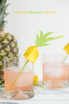 Origami Pineapple drink stirs! Love it!