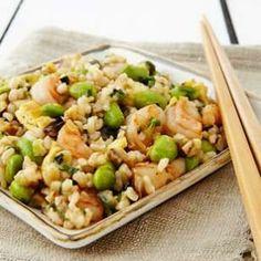 Japanese Shrimp & Eggplant Fried Rice