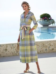 Fashion 101, Cute Fashion, Work Fashion, Womens Fashion, Dress Outfits, Casual Dresses, Summer Dresses, Women's Dresses, Plaid Dress