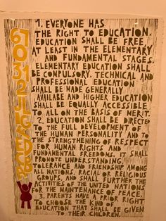 Right To Education, Elementary Education, Higher Education, United Nations, At Least, The Unit, Primary Education, Elementary Schools