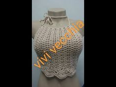 Diy Crochet Top, Crochet Bikini Top, Learn To Crochet, Crochet Hats, Crochet Diagram, Crochet Patterns, Crochet Videos, Top Croped, Lana