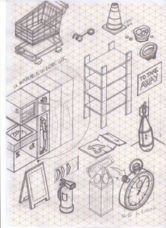 isometric paper sketch - Google Search