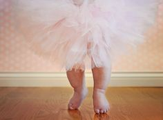 6 month baby girl photo idea - ballerina tutu and toes. Check out more pictures and designs at sorellephotographyanddesign.com