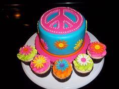 Peace sign Cake, its a lisa cake!! :-)