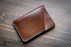 Monedero slim de cuero / titular de la tarjeta de crédito