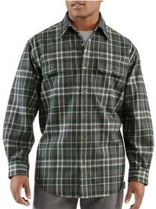 Carhartt Men's Heavyweight Hubbard Plaid Flannel Shirt