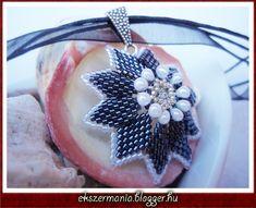 flower pendant- ÉKSZERMÁNIA  tutorial on site. Thank you sooo much.