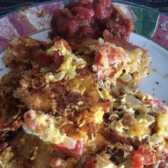 Chilaquiles III Avocado Breakfast, Breakfast Dishes, Mexican Breakfast, Fried Tortillas, Refried Beans, How To Cook Eggs, Vegetarian Cheese, Food For Thought, Mexican Food Recipes