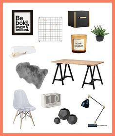 Bookmark this to see how to decorate your desk for a minimalist feel.