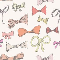 Bows...follow on from the photograph of bows but illustrated and in funky colour palette which can be developed into a wedding invitation