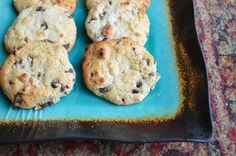 Grain Free Chocolate Chip Cookies - based on almond flour #paleo #grainfree #glutenfree