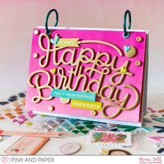 Pink Paislee Confetti Wishes - Birthday Calendar | Mona Toth