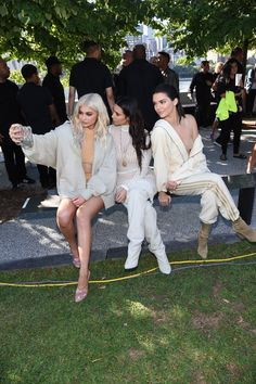 Kim, Kendall, and Kylie Are 3 of a Kind at Kanye's Fashion Show