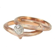Diamond Vine Engagement Ring - Rose Gold | Handmade Designer Rings | Turtle Love Co. Jewelry