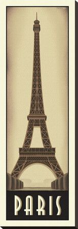 Paris Stretched Canvas Print by Steve Forney