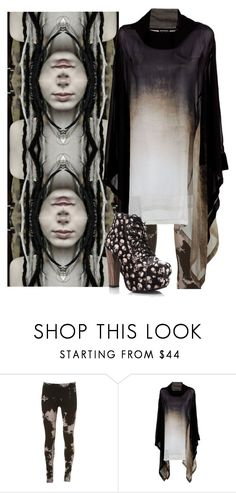 """""""Untitled #760"""" by no0ne ❤ liked on Polyvore featuring Ann Demeulemeester"""
