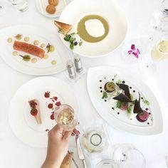 { Paris et moi わたしとパリ } パリに行ったら したいこと⑫ 真っ白なオシャレレストラン Maison Blanche でランチ Panna Cotta, Paris, Ethnic Recipes, Food, Meals