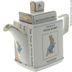 My very favoritest teapot I own.  It may not be Mrs. Tittlemouse, but it fits right in & is totally awesome!!