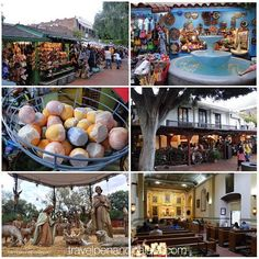 Olvera Street is the oldest #streetscape in #LosAngeles from Spanish/Mexican #California. Designated by the city as a historic street in 1930 it's a vibrant market cafes & historic buildings. (Middle pic left: painted eggs filled w/paper confetti are broken on the heads of revilers on #mardigras.) #historicpreservation #mexicansmericanfood #mexicanheritage