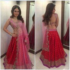 Hansika Motwani looks lovely in label Anushree Reddy, styled by @eshaamiin for her latest movie Pokkiri Raja!