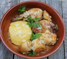 Pui la ceaun - Reteta in imagini - Bucataria Romaneasca Potato Salad, Potatoes, Chicken, Ethnic Recipes, Food, Meal, Potato, Essen, Cubs