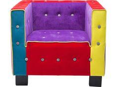 Fotel Cube Button — Fotele Kare Design — sfmeble.pl