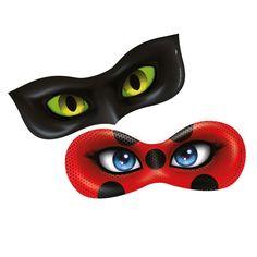Máscara Miraculous Ladybug c/ 06 unidades