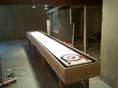 Make A Shuffleboard Table | Shuffleboard Table, Shuffle Board And  Woodworking
