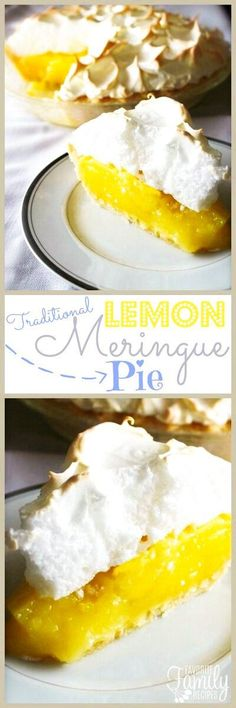 Mom's Lemon Meringue Pie is one of my all-time favorite pies. The lemon filling is tart and smooth and the meringue is light and creamy. The perfect pie! #pie #thanksgivingpie #lemonmeringuepie #lemonpie via @favfamilyrecipz