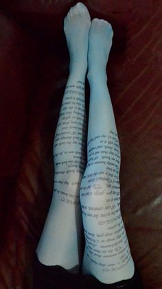 Romeo & Juliet Tights...Get Casually (and Literally) Elegant | Community Post: 14 Must-Haves For The Perfect Booklovers' Night In