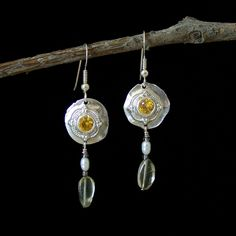 Fine Silver Regal Dangle Earrings by Carey Ann Jewels