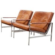 Lounge Armchairs Modell FK 6720 by Preben Fabricius and Jørgen Kastholm For Sale