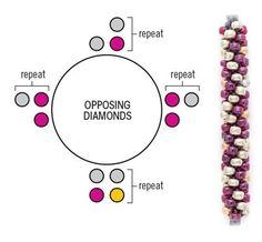 Opposing Diamonds kumihimo pattern
