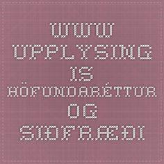 www.upplysing.is - Höfundaréttur og siðfræði