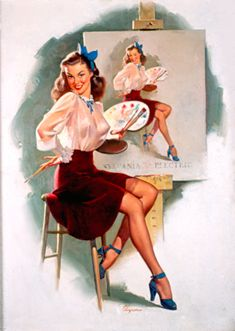 pinup art | Gil Elvgren | Great American Pinup
