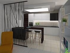 interior render: kitchen