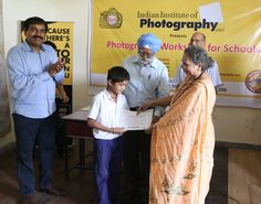 Certificate distribution ceremony after FRE Photography Workshop conducted by IIP at Nai Disha Free Education Society. www.iipedu.com/student-workshops.php