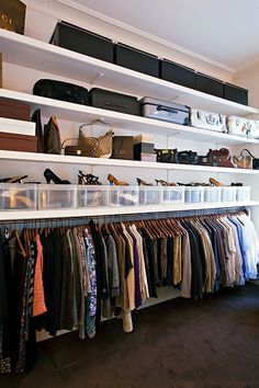 My ultimate safe haven. Storage is a great way to tidy up. Also if you don't have the time to look for unique storage solutions try on-live for vintage trunks and make your wardrobe simply fabulous! x