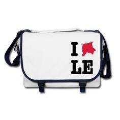 I Love LE (Leipzig) Bag / Umhängetasche  http://iloveberlin.spreadshirt.de/i-love-leipzig-umhaengetasche-A22186352