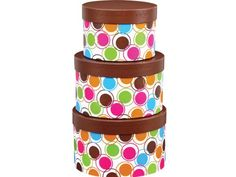 DESIGNER DOTS Nested Boxes3 Piece Round Matte Gift Boxes (3 unit, 1 pack per unit.) *** You can find out more details at the link of the image.