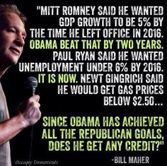 Since Obama has achieved all of the republican goals, does he get any credit? #ILoveObama