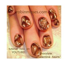 chocolate hearts valentines day