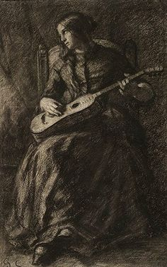 Gustave Courbet     Young Woman with Guitar, 1847