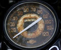 Step on it! Old speedometer rusting away at Le Container.