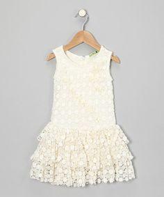 e64fc51743a3 Ivory Summer Vine Dress - Toddler  amp  Girls by Little Mass on  zulily Kids