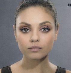 Miła Kunis - natural, nude makeup. From Jupiter Ascending