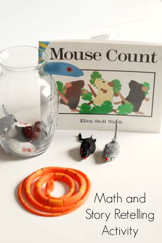 Math and story retelling activity to go with the book Mouse Count.