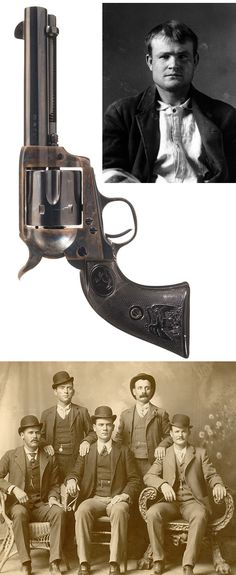"""Antique Colt Single Action Army Revolver with Notarized Letter Attributing the Revolver to Famous Western Outlaw Robert Leroy Parker, Best Known as """"Butch Cassidy"""" ,ca. 1896. Providence see   http://www.rockislandauction.com/viewitem/aid/59/lid/1213"""